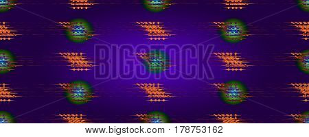 Seamless abstract pattern diffusion on purple background. . For design wallpaper cover invitation fabric. Vector background.