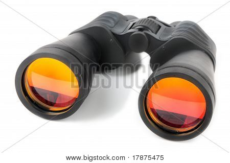 Optical Spy Equipment For Searching On White Background