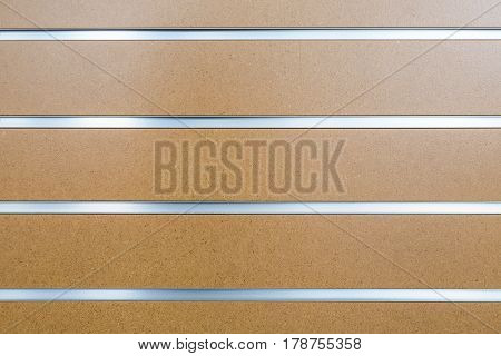 Brown wooden texture and background with aluminum line