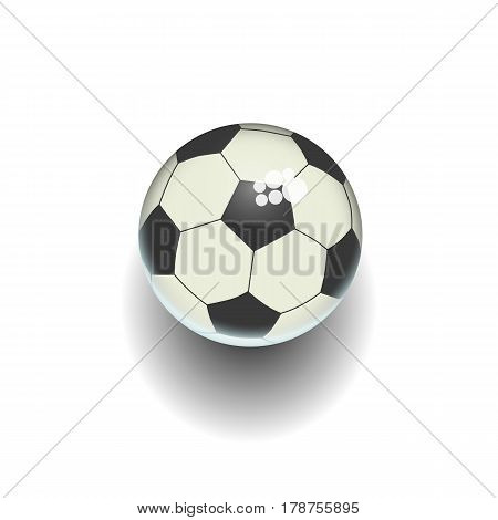 Cartoon soccer ball isolated white illustration. isolated. Rasterized Copy