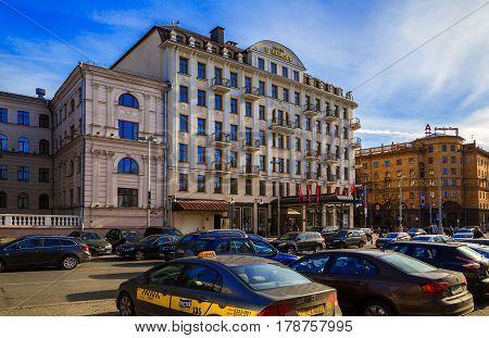 Minsk Belarus - March 23 2017 hotel