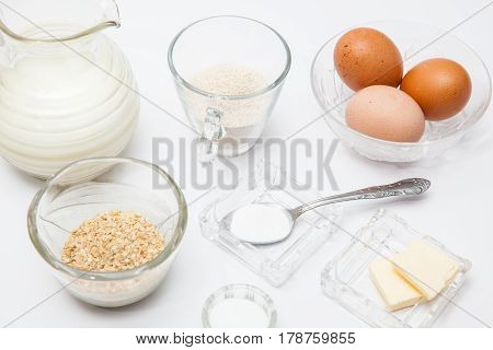 Quinoa crepes preparation : Ingredients to prepare crepes