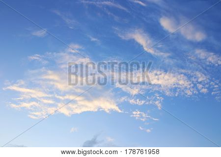 Blue sky background with white clouds. Clouds with blue sky. Clouds background. Sky print. Clouds print