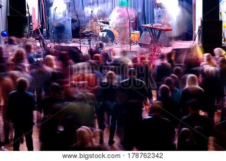 A Lot Of Music Fans In The Club