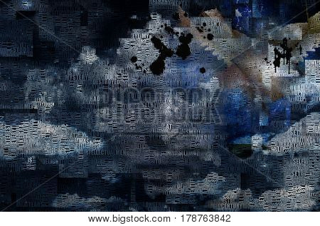 Abstract clouds. Words.     3D Rendering   Image composed entirely of words, text