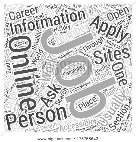 JH job hunting online Word Cloud Concept
