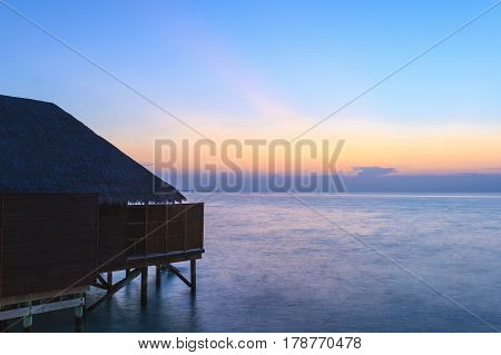 Tropical Resort At The Blue Hour