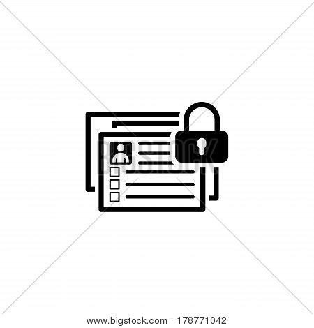 Limited Data Set Icon. Flat Design. Business Concept Isolated Illustration.