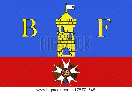 Flag of Belfort is a city in northeastern France in the Bourgogne-Franche-Comte region