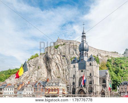 View on Citadel of Dinant in Belgium