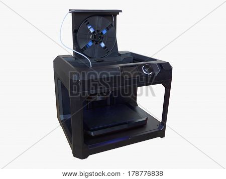 3D Printer Isolated On White