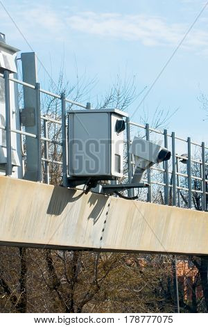 Traffic Radar With Photographic Camera And Automatic Number Plat
