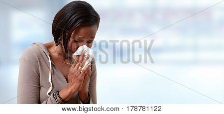 Sneezing black women