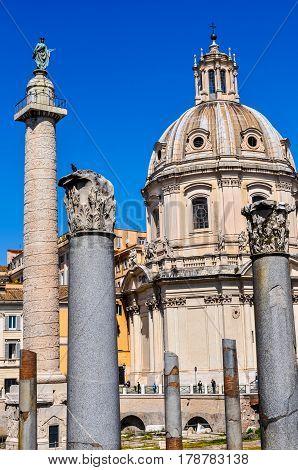 Hdr Trajan's Market, Rome