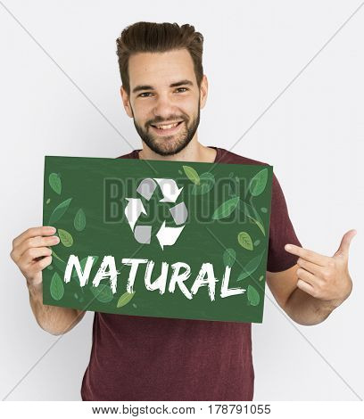 Recycle Nature World Icon Graphic
