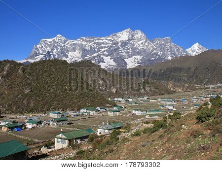 Sherpa village Khumjung after the big earthquake