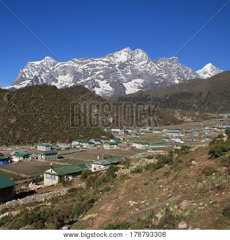 Sherpa village Khumjung. Everest National Park, Nepal.