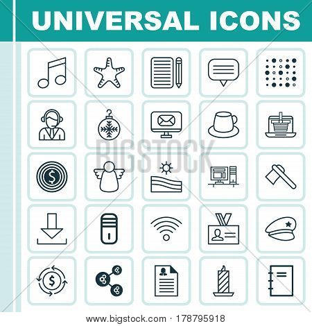 Set Of 25 Universal Editable Icons. Can Be Used For Web, Mobile And App Design. Includes Elements Such As Variable Architecture, Tree Toy, Text Bubble And More.