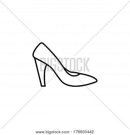 Woman shoes line icon, shopping, pump shoes vector graphics, a linear pattern on a white background, eps 10.