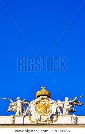 Angel Sculptures In Front Of Blue Sky