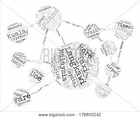 langkawi Island Malaysia text background word cloud concept
