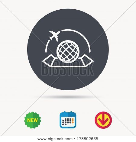 World map icon globe vector photo free trial bigstock world map icon globe with airplane sign plane travel symbol calendar download publicscrutiny Image collections