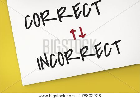 Correct Incorrect Worst Best Opposite