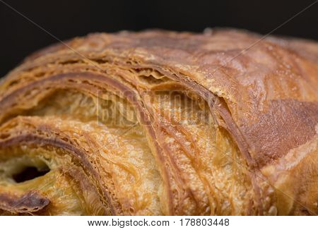 Texture Of Freshly Made Chocolate Croissant