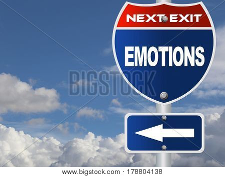 Emotions road sign