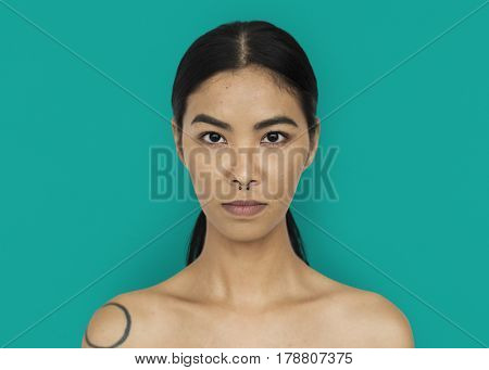 Asian Woman Stylish Studio