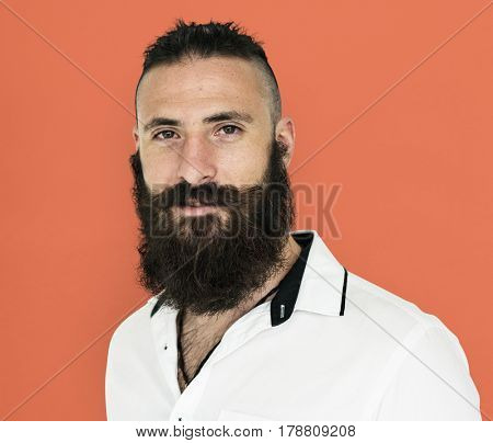 A man with mustache and beard