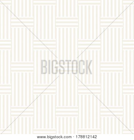 Abstract Geometric Pattern With Stripes Lattice. Subtle Seamless Vector Background. Monochrome Stylish Texture.