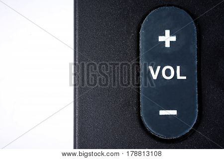 volume button on the white background .