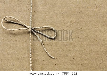 String tied on recycled paper.  Twine with great textures.