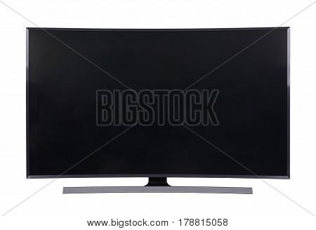 big led tv isolated on white background (with clipping path)