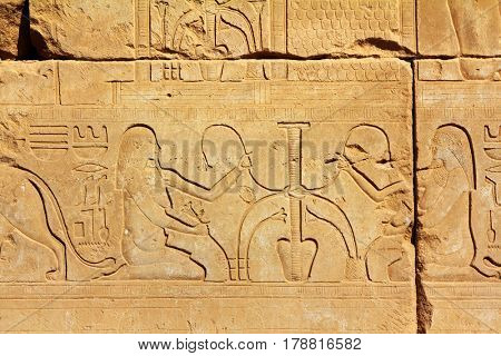 ancient egypt images and hieroglyphics in Luxor karnak temple
