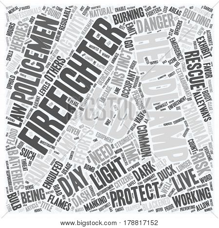 Led Headlamp Usage By Law Enforcement Officers And Fire Fighters A Message To Outdoorsmen text background wordcloud concept