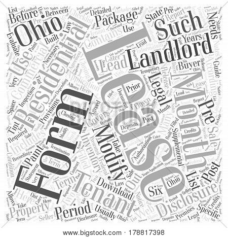 Legal forms for landlords in Ohio Word Cloud Concept