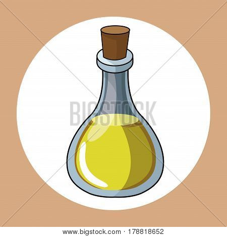 oil bottle healthy fresh image vector illustration eps 10