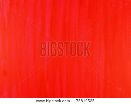 red wood abstract texture background, red color painted on wooden wall