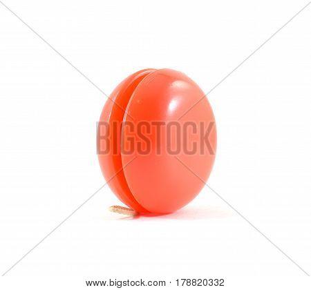 Bright Neon Orange Plastic Yo-yo With String