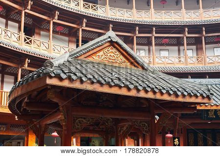 Chinese Traditional Architecture In A Hakka Roudhouse