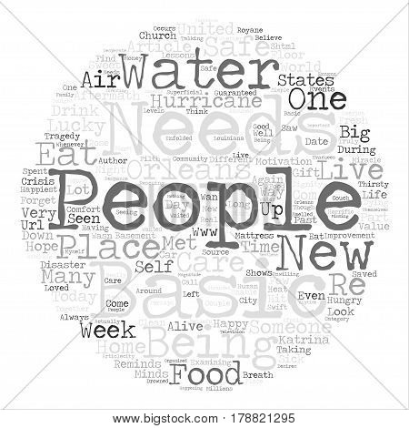 Life Lessons From Hurricane Katrina text background word cloud concept