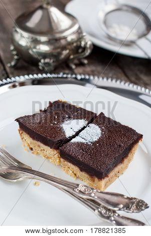 Chocolate Brownie Cake With Shortcake Dough