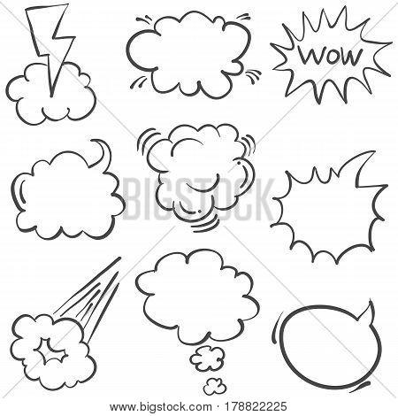 collection stock of text balloon style vector art