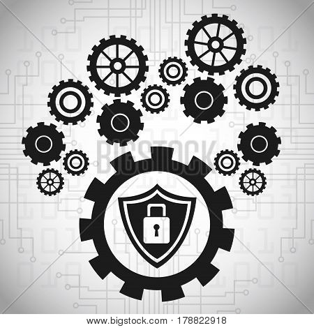 gears technology protection work vector illustration eps 10