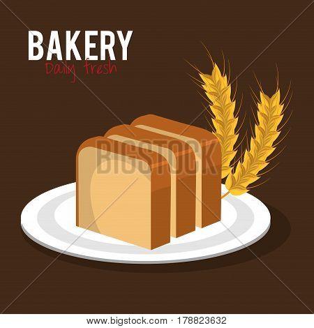 delicious bread product icon vector illustration design