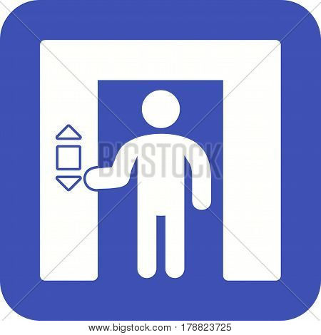 Elevator, button, up icon vector image. Can also be used for city lifestyle. Suitable for web apps, mobile apps and print media.