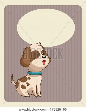 cute doggy poster image vector illustration eps 10
