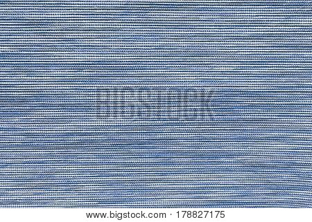 Textile Texture Close Up of Blue and White Fabric Pattern Background with Copy Space for Text Decorated.